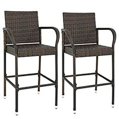 Wicker Patio Chairs | Find Best Patio Chairs Wicker Bar Stools, Bar Stool Seats, Outdoor Bar Stools, Wicker Chairs, Counter Bar Stools, Outdoor Dining Chairs, Bar Chairs, Outdoor Living, Outdoor Benches