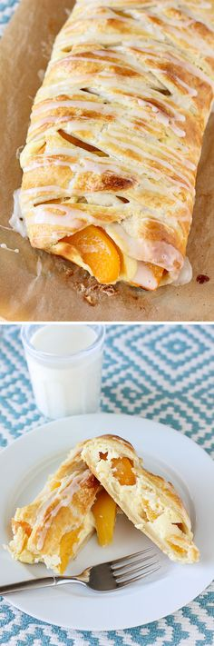 Peaches and Cream Cheesecake Braid! This thing is gorgeous and incredibly delicious -- and super simple! Oh I think I need this for my bday Chocolates, Breakfast Recipes, Dessert Recipes, Cupcakes, Cheesecake Recipes, Nutella Recipes, Sweet Bread, Snack, Coffee Cake
