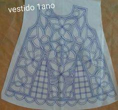 Richelieu pattern, embroidered dress