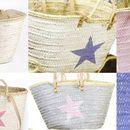 Strandtaschen - Einkaufstasche Strandtasche Stern versch. Farben - ein Designerstück von DeliaSummer bei DaWanda