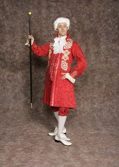 $45.00 Costume Rental  Percy Ball #2  red knickers, coat, & vest w/gold detailing