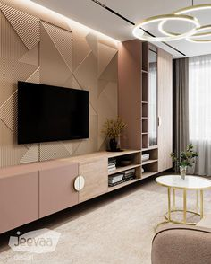 Living Room Partition, Living Room Built Ins, Living Room Interior, Home Living Room, Tv Unit Furniture Design, Bedroom Furniture Design, Tv Furniture, Dream Home Design, Design Your Home