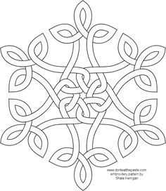 Coloring Pages Snowflake Patterns | Not done yet! A coloring page, and embroidery patterns. These are in ...