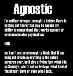 Agnostic- basically religious Switzerland.