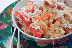 Kijk wat een lekker recept ik heb gevonden op Allerhande! Moksi alesi (Surinaamse rijstschotel met garnalen en kip)
