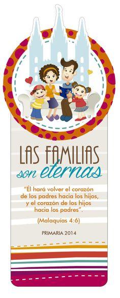 Señaladores PRESENTACION PRIMARIA 2014 Las Familias Son Eternas - maggiCAL Conexion SUD