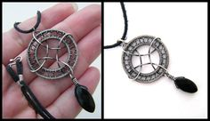 silver and onyx necklace by annie-jewelry.deviantart.com on @deviantART