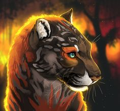 The Demon Commander's Runaway Consort - Chapter 14 - Page 2 - Wattpad Big Cats Art, Furry Art, Cat Art, Tiger Drawing, Tiger Art, Anime Cat, Anime Animals, Creature Design, Mythical Creatures