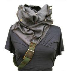Hide and Seek Convertible Cowl Linen Scarf Hood-