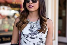 Black and White Staples - TresCool Printed Paint Dress from and Steve Madden Lace Up Heels