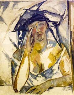 """Mikhail Larionov (1881-1964) """"Portrait de femme"""" (1911-1912) musée national d'art moderne, Centre Pompidou (Paris, France) (by Denis Trente-Huittessan)"""