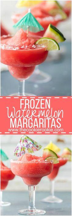 Frozen Watermelon Margarita | The Cookie Rookie | Bloglovin'