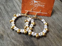 Micro pendientes macrame de oro y plata chapada pendientes bohemio mujeres gitanas joyas micromacrame