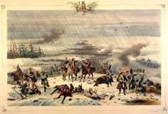 The French retreat from Battle of Vyazma 3 Nov 1812, by Albrecht Adam.
