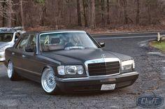 Mercedes+W126+Wheels | Mercedes-Benz W126 Slammed on CNT Racing Wheels