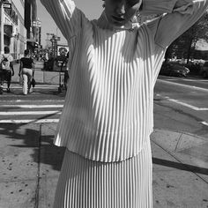 """awaykeeping: """" hot @nanefeist on Delancey 4 @maryam_nassir_zadeh store - shot by me on a hot day by teget http://ift.tt/1NqBwKZ """""""