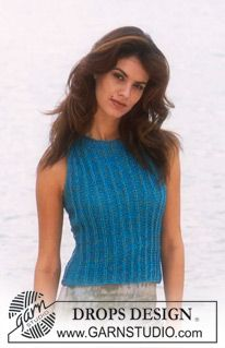 Women - Free knitting patterns and crochet patterns by DROPS Design Free Knitting Patterns For Women, Knit Patterns, Drops Design, Magazine Drops, Crochet Jumper, Summer Knitting, How To Purl Knit, Knitted Tank Top, Cotton Viscose