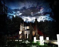 Perspective 3D d'une maison autonome. #3D #architecture #perspectives3D #visuarchstudio