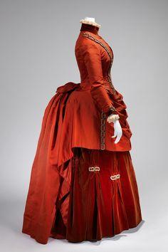 1887 American silk dress