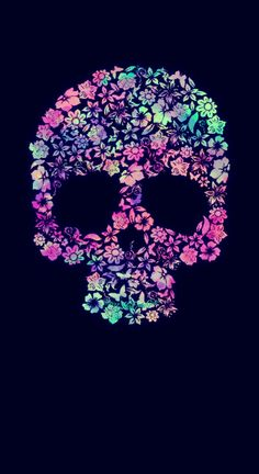 Super awesome phone wallpapers for youuuuu wallpaper sweet floral skull galaxy wallpaper i created for the app cocoppa voltagebd Image collections
