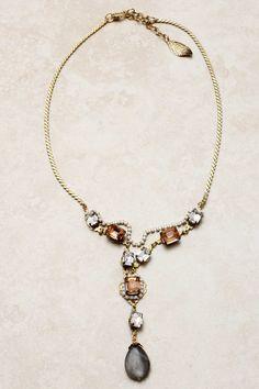 Champagne Crystal Illume Necklace | Emma Stine Jewelry Necklaces
