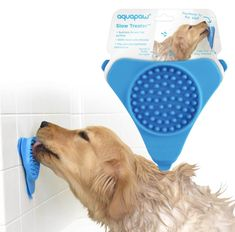 This innovative treat slow feeder helps persuade pups to get in the tub and keep them there. Pre-Orders will ship (est.)April and shipping is free! Full Size Comforter Sets, Dog Boarding Kennels, Slow Feeder, Interactive Toys, Your Pet, Pup, Dog Cat, Dogs, Bath Time