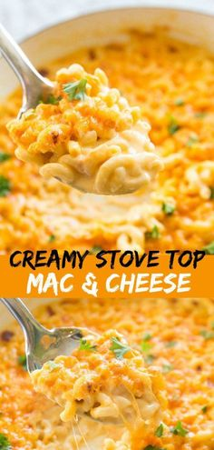 This Creamy Three Cheese Skillet Mac and Cheese is the most decadent mac and cheese I have ever eaten! #cheese #macandcheese