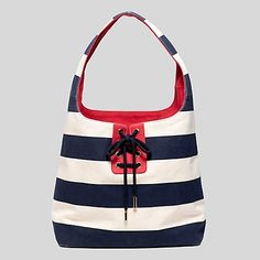 Tommy RUBGY STRIPE LACED UP HOBO