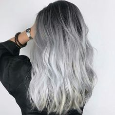 Gray Hair Might Be A Sign Of Serious Viral Infection - Study - grey hair - Hair Styles Ombre Hair Color, Cool Hair Color, Grey Dyed Hair, Long Grey Hair, Brown Hair, Grey Hair Tan Skin, Pelo Color Ceniza, Street Style Vintage, Pelo Color Plata