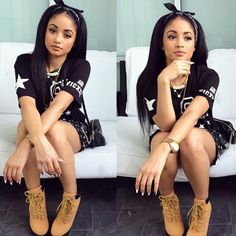 Pretty girl swag Sweet>>>love her Dope Fashion, Black Girl Fashion, Fashion Moda, Fashion Killa, Urban Fashion, Teen Fashion, Tokyo Fashion, Dope Outfits, Swag Outfits