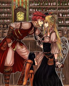 Natsu And Lucy, Fairy Tail is listed (or ranked) 2 on the list 22 Steampunk Versions Of Your Favorite Anime Characters Fairy Tail Lucy, Fairy Tail Nalu, Fairy Tail Amour, Fairy Tail Guild, Fairy Tail Ships, End Fairy Tail, Fairytail, Jerza, Couples Fairy Tail