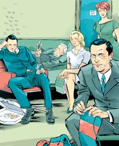 "Kagan McLeod | 19 Incredibly Gorgeous ""Mad Men"" Illustrations"