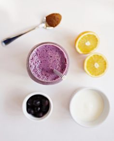 #smoothie Kefir Blueberry Citrus Smoothie. By Carolyn Berry, Registered Dietitian at Medisys Vancouver.