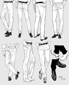 ideas drawing poses male anime character design references for 2019 Drawing Reference Poses, Drawing Poses, Pants Drawing, Drawing Tips, Suit Drawing, Fabric Drawing, Drawing Drawing, Figure Drawing, Drawing Techniques