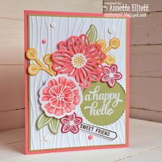 SU  May Flower frameless and Falling Flowers stamp set