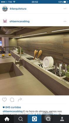 Like this idea of inbuilt drainage rack? Kitchen Room Design, Kitchen Cabinet Design, Modern Kitchen Design, Interior Design Kitchen, Kitchen Dining, Kitchen Decor, Kitchen Cabinets, Home Design Decor, Küchen Design