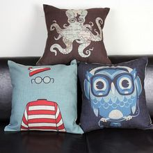 Free shipping high quality linen invisible zipper cushion cover/pillow cover 45*45cm(China (Mainland))