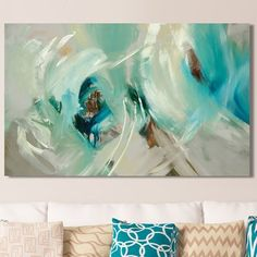 """Ivy Bronx 'Bella' Painting Print on Wrapped Canvas Size: 36"""" H x 60"""" W"""