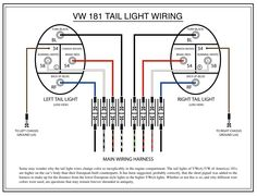 Wiring diagram VW beetle sedan and convertible 1961-1965