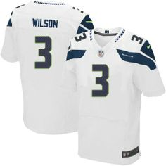 For Sale Nike Seattle Seahawks  3 Russell Wilson Elite White NFL Jersey  Youth Football Jerseys 45bcfd415233e