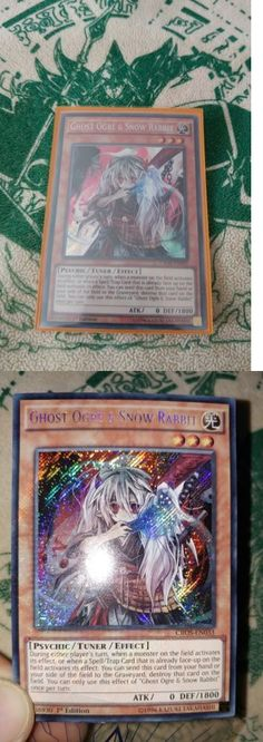 Yu-Gi-Oh Individual Cards 31395: 1X Europrint Ghost Ogre And Snow Rabbit Secret Rare 1St Edition Cros-En033 Nm M -> BUY IT NOW ONLY: $40 on eBay!