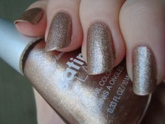 Sally Hansen Satin Glam - Go Gold, with top coat *click for more*