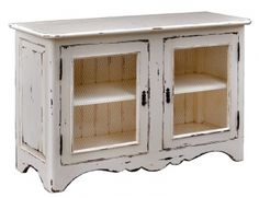 Wooden sideboard w/ chicken wired doors
