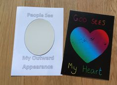 Two sided cards. Craft to go with 1 Samuel 16 - Samuel anoints David as God's chosen King.