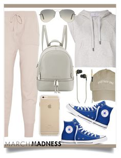 High top converse by anchilly23 on Polyvore featuring polyvore fashion style adidas Eres Converse MICHAEL Michael Kors Ray-Ban Kreafunk clothing