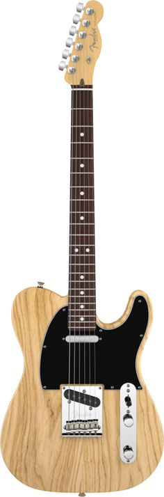Tele...check...Natural colour black pick guard ...but Maple Neck  Fender American Standard Telecaster® w/hardcase: Ash Body / Natural