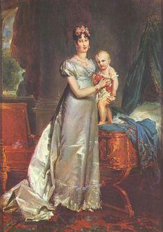 1813 L'impératrice Marie-Louise (1791-1847) présentant le roi de Rome by François Pascal Simon Gérard