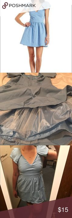 Mustard Seed blue Cinderella dress size L Powder blue Cinderella dress from Mustard Seed with tulle lining for extra flounce, size L. Perfect for Halloween! Mustard Seed Dresses
