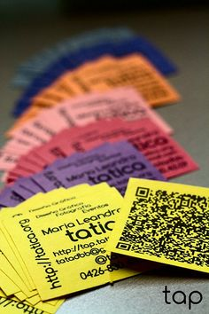 10 tarjetas de visita con codigo QR