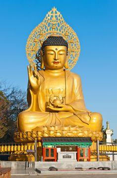 PHOTOS OF BUDDHISTS | ... At Buddhist Temple Of Sanbanggulsa At Sanbangsan Of Jeju Island Korea